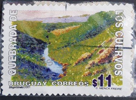Quebrada de los Cuervos Sello Uruguay 2001