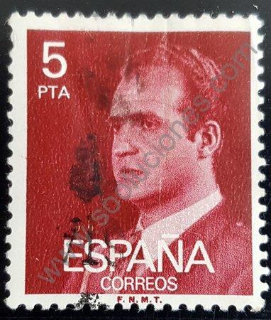 Rey Juan Carlos I sello de España 1983 fosforescente