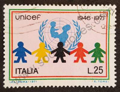 Sello Italia 1976 - UNICEF