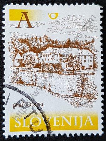 Castillos Otocec de Eslovenia estampilla del año 2000