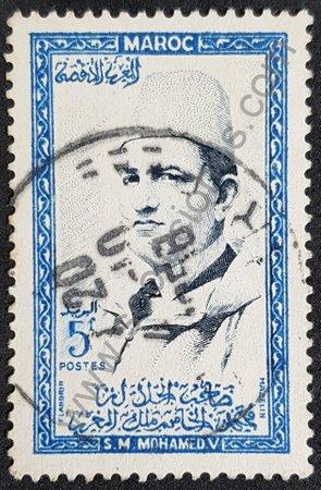 Estampilla Marruecos 1956 Rey Mohammed V