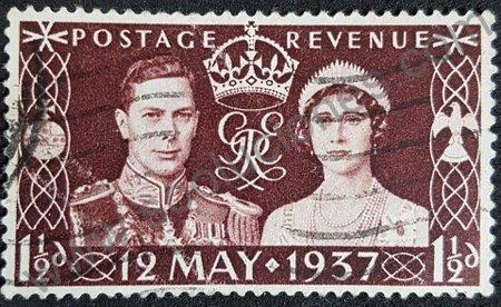 Coronación Jorge VI sello de Reino Unido 1937