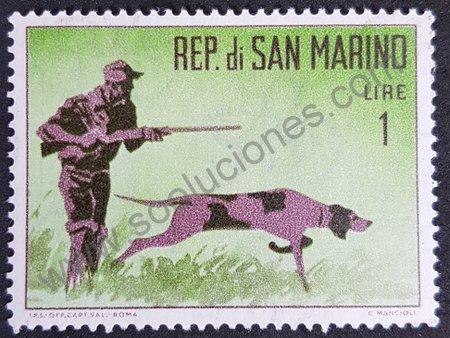 Sello de San Marino 1962 - Cazador y perro