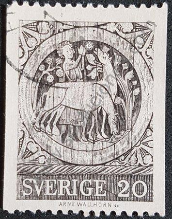 Sello Suecia 1970 Leyenda de St. Staffan