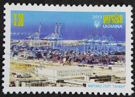 Estampilla Ucrania 2013 puerto de Tánger