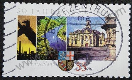 50 aniversario Federación Saarland - sello Alemania 2007