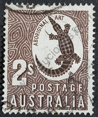 Sello Australia 1948 cocodrilo Johnston
