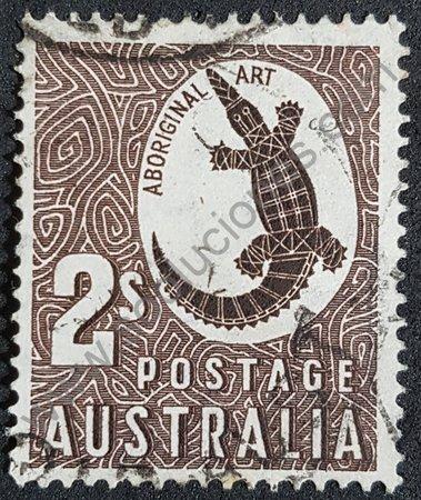 Sello Australia 1948 cocodrilo Johnston