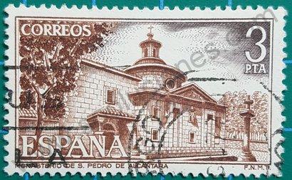 Monasterio San Pedro de Alcántara sello España 1976