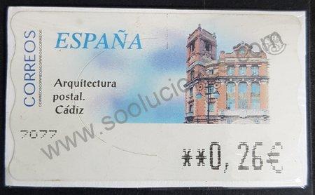 Oficina correos Cádiz sello España 2002
