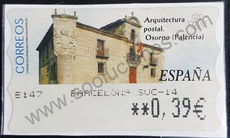 Sello España 2002 Osorno etiqueta ATM