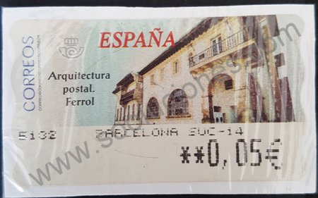 Etiqueta ATM Ferrol España 2002