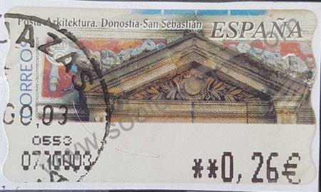 Etiqueta ATM Donostia España 2002 San Sebastián