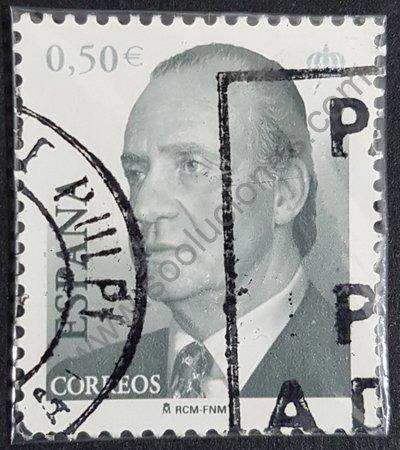 Estampilla España 2002 Rey Juan Carlos 0,50 €