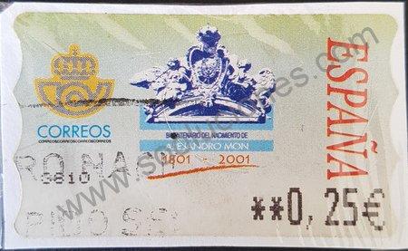 Alejandro Mon Sello España 2002 ATM