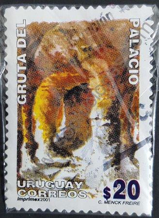Grutas del Palacio sello de Uruguay 2001