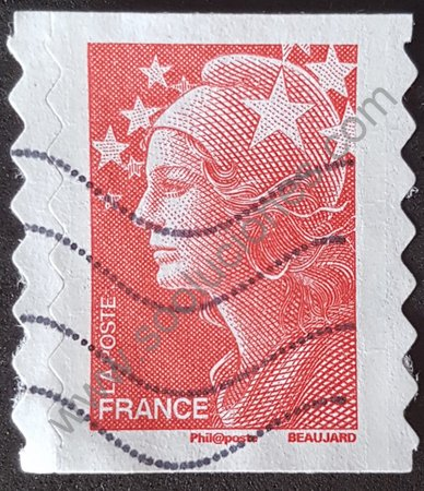 Sello Francia 2008 Marianne sin valor facial