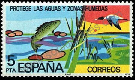 sello-España-1978-Trucha-y-Pato
