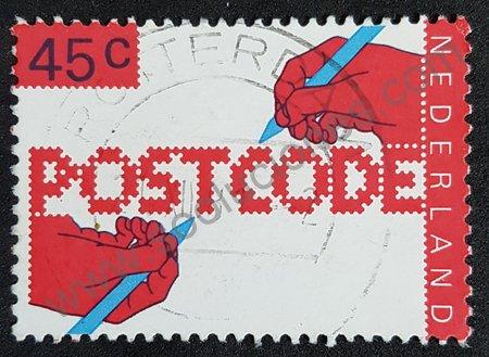 Sello Países Bajos 1978 código postal