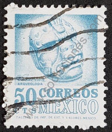 Sello México 1975 cabeza de Veracruz