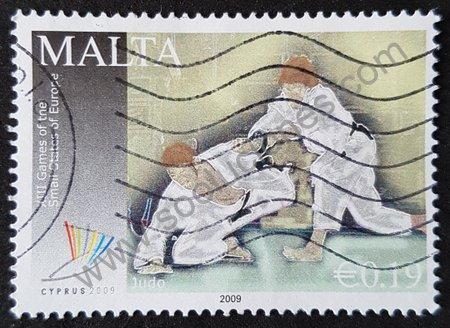 Sello Malta 2009 Judo - Juegos deportivos