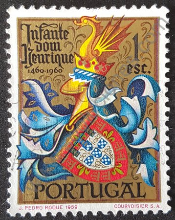 Sello de Henrique el navegante Portugal 1960