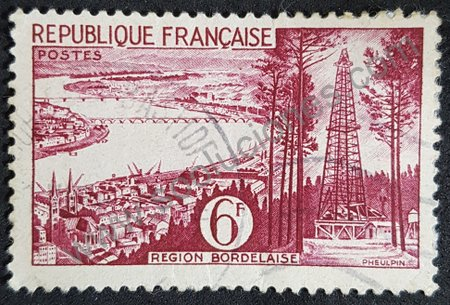 Region Bordeaux sello Francia 1955
