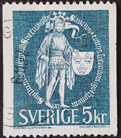Sello de Suecia 1976 Erik IX