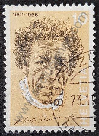 Sello Suiza 1972 Giacometti Alberto