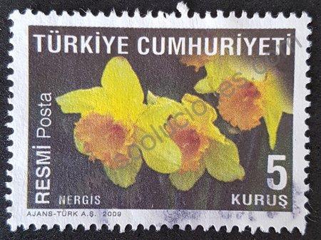 Sello Turquía 2009 narciso serie flores