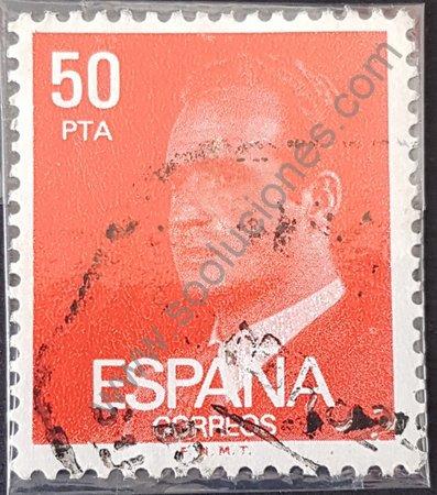 Sello rey Juan Carlos de España año 1981 50 pta