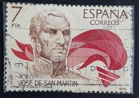 Sello España 1978 José de San Martín