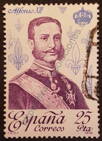 Sello Alfonso XII España 1978 valor 25 Pta.