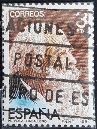 Manuel Perez Caballero sello España 1982