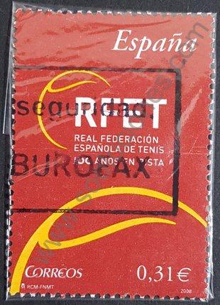 Sello España 2008 Centenario de la RFET - Deportes