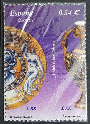Sello Plato y Cántaro España 2010 cerámicas