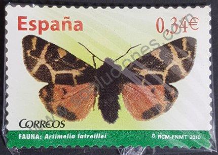 Polilla voladora sello España 2010 Artimelia latreillei