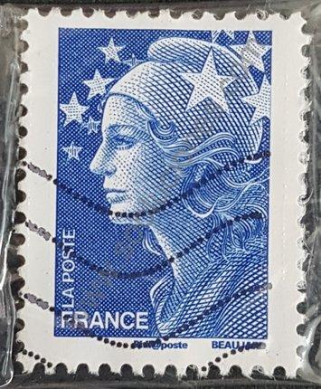 Sello Marianne y Europa valor 20g Francia 2008