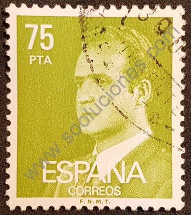 Sello 75 pta España Juan Carlos I