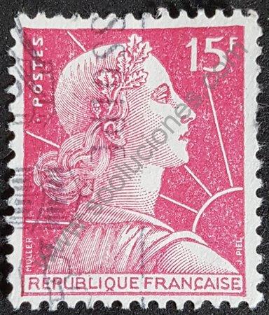 Marianne de Muller 1955 sello de Francia