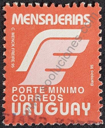 Sello mensajerías Uruguay 1996 porte mínimo