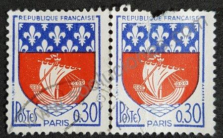 Sello escudo armas París - Francia 1965