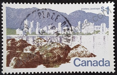 Sello Canadá Vancouver 1977 serie básica