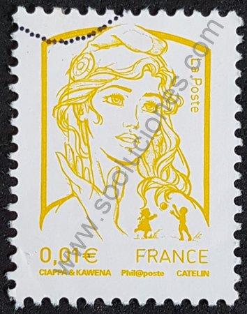 Marianne de Ciappa y Kawena sello de Francia 2013