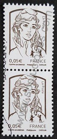 Sello Marianne 0.05 € Francia 2013 Ciappa y Kawena