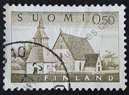 Iglesia de Lammi sello Finlandia 1963