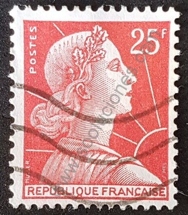 Marianne de Muller Francia 1959 valor 25 F