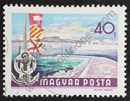 Sello lago Balaton en Badacsony Hungría 1969