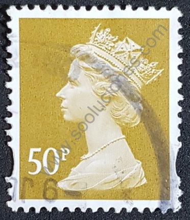 Elizabeth II sello 1993 Reino Unido valor 50p