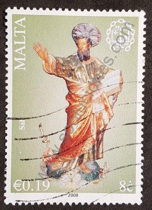 Malta sello de 2008 Bimilenio del nacimiento de San Pablo